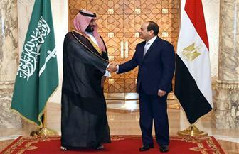 تفاصيل لقاء الرئيس السيسي وولي عهد السعودية محمد بن سلمان | صور