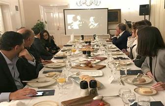 عرض فيلم تسجيلي عن العلاقات التاريخية بين مصر وصربيا خلال حفل عشاء لوزيري خارجية البلدين صور