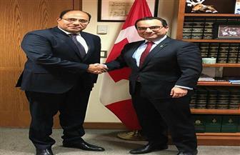 سفير مصر في كندا يلتقي رئيس لجنة العلاقات الخارجية بمجلس العموم الكندي