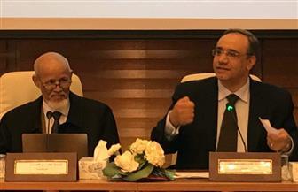 خالد القاضي يدعو إلى حماية الممتلكات الثقافية أثناء الحروب في الألسكو | صور