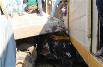 4 وفيات و4 مصابين.. الحصيلة النهائية لحادث تصادم جرار زراعي بقطار في الغربية| صور
