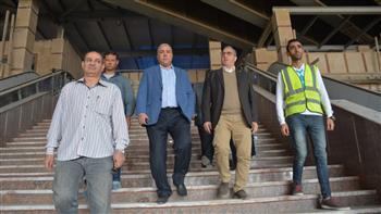 رئيس شركة مترو الأنفاق والعضو المنتدب يتفقدان أعمال تطوير المرج الجديدة  صور