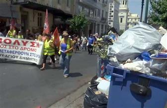 إضراب عمالي في اليونان للمطالبة برفع الحد الأدنى للأجور وخفض الضرائب