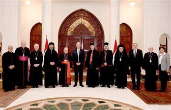 بطاركة الشرق الكاثوليك يلتقي رئيس جمهورية العراق   صور