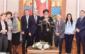 البابا تواضروس يستقبل مبعوث الاتحاد الأوروبي لحرية الأديان | صور