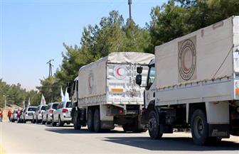 وصول شاحنات إغاثة تابعة للأمم المتحدة إلى مخيم الركبان للاجئين بسوريا