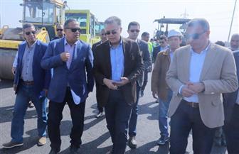 """وزير النقل يتفقد أعمال طريق داعم لـ""""الدائري"""" بطول 30 كم   صور"""