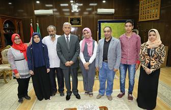 محافظ المنوفية يستقبل المشاركين بمعرض القاهرة الدولي الخامس للابتكار 2018 | صور
