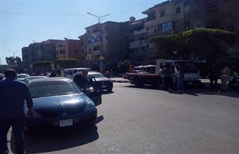 جهاز شئون البيئة بوسط الدلتا يفحص عوادم 45 سيارة بكفر الشيخ | صور
