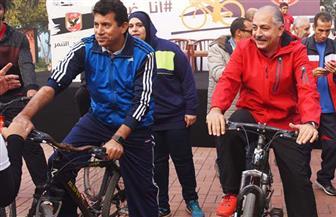 انطلاق ماراثون الدراجات بالأهلى بحضور وزير الشباب و الرياضة