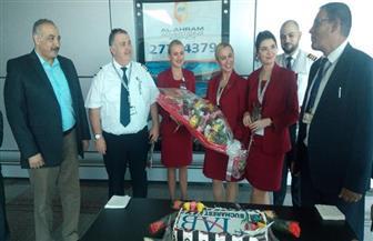 مطار الغردقة الدولي يستقبل رحلة تسويقية من رومانيا للمدن السياحية المصرية