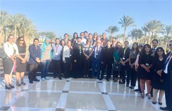 وزيرة الهجرة تلتقي شباب المصريين بالخارج على هامش مشاركتهم فى منتدى شباب العالم |صور