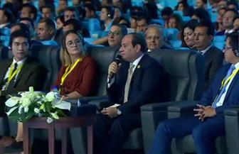السيسي: حادث المنيا يؤلمنا جميعا ولا نميز فى مصر بين مسلم وقبطى