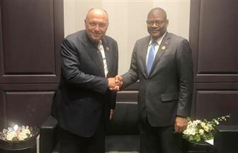 سامح شكري يلتقي وزير خارجية ليبيريا ووزيرة التغير المناخي الباكستانية| صور
