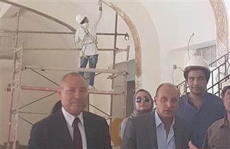 رئيس حي مصر الجديدة ونائب البرلمان يتابعان تطوير مدرج غرناطة الملكي