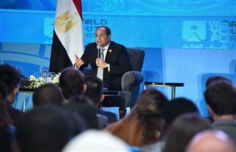 الرئيس السيسي: علينا العمل على إقناع الناس بالمسار الذى نسير فيه لتطوير منظومة التعليم
