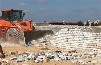 إزالة تعديات على مساحة 14 ألف متر في حملة مكبرة بمطروح | صور