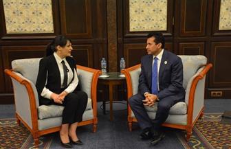أشرف صبحي يلتقي وزيرة الشباب والرياضة التونسية لبحث التعاون الثنائي
