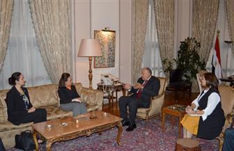شكرى يستقبل وفد مجموعة الصداقة البرلمانية المصرية البريطانية بمجلس النواب