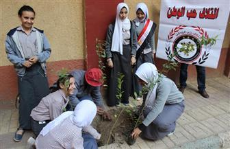 حب الوطن يواصل تشجير مدارس الجيزة في بولاق الدكرور | صور