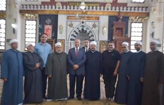 وزير الأوقاف ومحافظ البحر الأحمر يتفقدان المركز الثقافي الإسلامي بالغردقة | صور