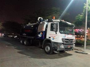 انطلاق سيارات سحب المياه بالقاهرة والجيزة لمواجهة الأمطار المحتملة   صور