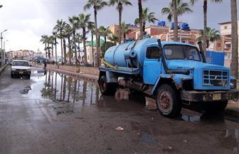 أمطار على المناطق الشمالية في كفرالشيخ وتوقف عمليات الصيد في بحيرة البرلس| صور