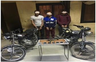 ضبط مسجلين لسرقتهما متعلقات المواطنين ودراجاتهم النارية في المنيا
