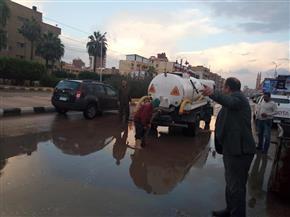 أمطار غزيرة وتوقف حركة الصيد في كفرالشيخ | صور