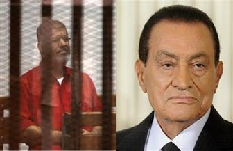 """غدا.. سماع شهادة مبارك في إعادة محاكمة محمد مرسي بقضية """"اقتحام السجون"""""""