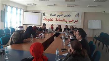 استراتيجية مناهضة العنف ضد المرأة في ورشة عمل بالمنيا