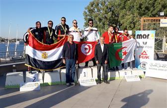 مصر تحصد 8 ميداليات ذهبية و٣ فضيات و٤ برونزيات بالبطولة العربية للكانوى والكياك بالأقصر | صور