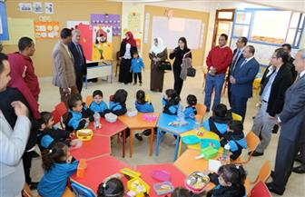 محافظ قنا وممثل هيئة التعاون الدولى يتفقدان المدرسة المصرية - اليابانية   صور