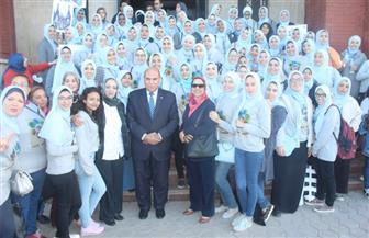 وقفة بجامعة الإسكندرية لدعم الطلاب ذوي الاحتياجات الخاصة
