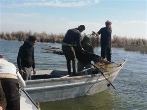 المسطحات المائية تضبط 23 مخالفة في بحيرة البرلس| صور