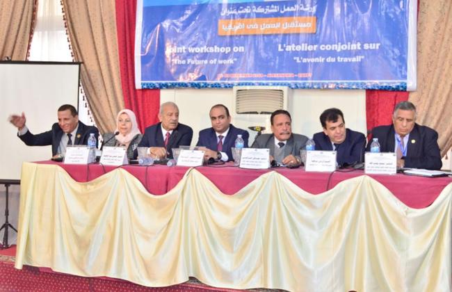 سعفان  للندوة العمالية التثقيفية الدولية بالإسكندرية: الحكومة توفر بيئة عمل آمنة للعامل  صور -