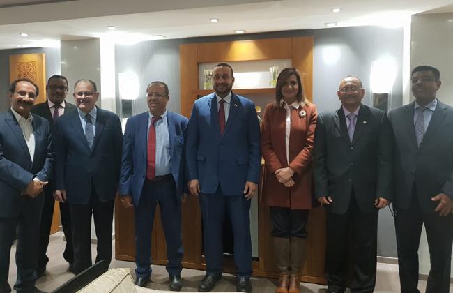 وزيرة الهجرة تلتقي وفد السودان خلال المشاركة في فعاليات العهد الدولي للهجرة وتشيد بفكرة  جامعة المغتربين  صور -
