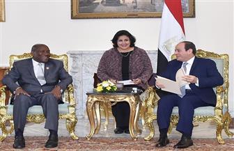 الرئيس السيسي يلتقي نائب رئيس كوت ديفوار ويناقشان تعزيز العلاقات الثنائية