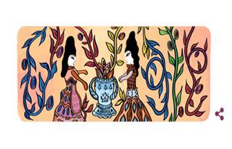 """جوجل يحتفل بالفنانة الجزائرية باية محيي الدين.. """"لفت انتباه بيكاسو.. ولوحاتها على طوابع البريد"""""""