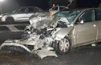 تصادم بين سيارة نقل و3 سيارات ملاكي بالشيخ زايد