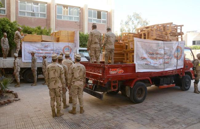 القوات المسلحة ترفع كفاءة المدارس والمنشآت التعليمية بالإسكندرية -