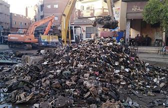 الري: إزالة مخلفات بحر أبشواي يستلزم هدم التغطيات الخرسانية| صور