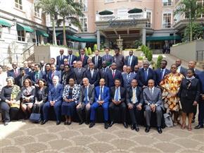 سفراء الدول الأعضاء بمجلس السلم والأمن الإفريقي يلتقطون صورة تذكارية