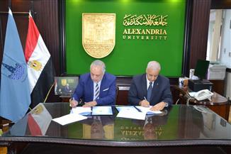 اتفاقية تعاون بين جامعة الإسكندرية وأكاديمية الفنون للتبادل الأكاديمي والعلمي | صور