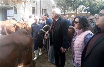 نائب وزير الزراعة ومحافظ بني سويف في جولة بحديقة الحيوانات لبحث تطويرها |صور