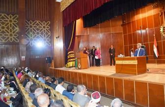 محافظ أسوان يشهد انطلاق فعاليات المؤتمر الشبابي الأول لتمويل المشروعات| صور