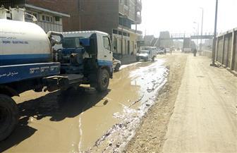 مياه الصرف الصحي تغرق شارع كوم أمبو بأسوان | صور