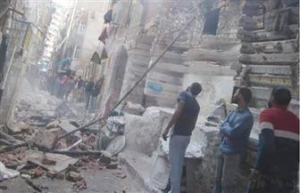 إخلاء 4 أسر عقب انهيار سلم عقار بمركز المنزلة بالدقهلية