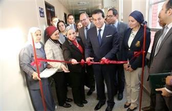 وزير التعليم العالي يفتتح أعمال مشروع غرف العزل للقلب والصدر بمستشفى أبو الريش الياباني |صور