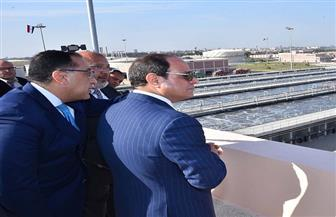 الرئيس السيسي يفتتح توسعات محطة معالجة مياه الصرف الصحى بالخانكة بالجبل الأصفر